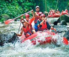 Bali Ayung Rafting and Elephant Ride Tour, Rafting at Ayung River