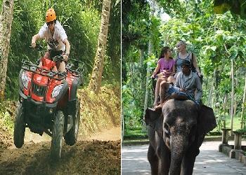Bali Double Adventure Tour, Bali ATV and Elephant Ride Tour