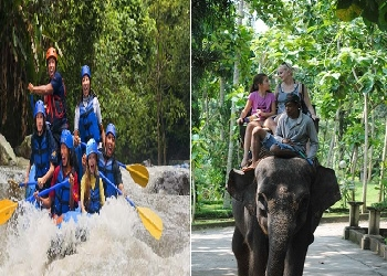 Bali Double Adventure Tour, Ayung Rafting and Elephant Ride Tour