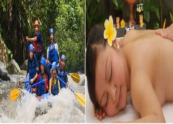 Bali Double Adventure Tour, Ayung Rafting and Spa Packages Tour