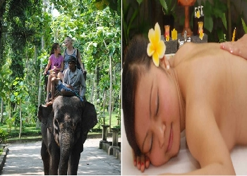 Bali Double Adventure Tour, Elephant Ride and Spa Packages