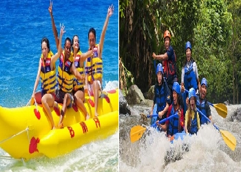 Bali Double Adventure Tour, Water Sport and Ayung Rafting Tour