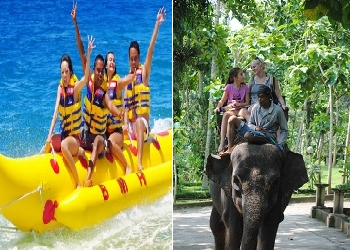 Bali Double Adventure Tour, Water Sport and Elephant Ride Tour