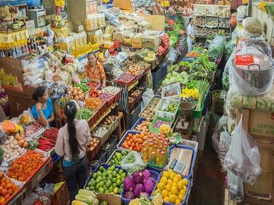 Half Day Denpasar City Tour, Badung Market