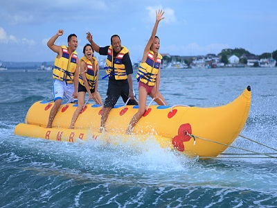 Bali Water Sports Tour, Banana Boat in Bali