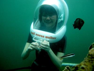 Bali Water Sports Tour, Ocean Walker in Bali