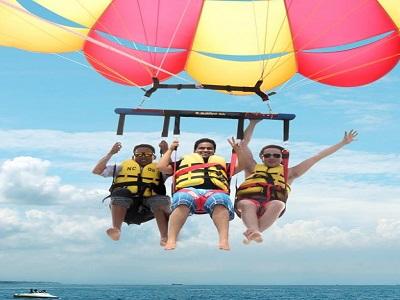 Bali Water Sports Tour, Parasailing Adventure in Bali